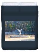 Angel On A Misty Lake  Duvet Cover