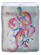 Angel Playing Music Duvet Cover