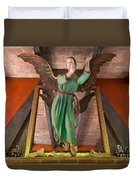 Angel Statue Duvet Cover