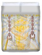 Angel Winds Flames Of Fire Duvet Cover