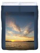 Angel Wing Sunset Duvet Cover