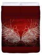 Angel Wings Crimson Duvet Cover