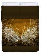 Angel Wings Gold Duvet Cover