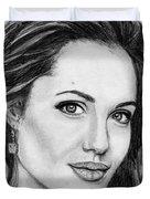 Angelina Jolie In 2005 Duvet Cover by J McCombie