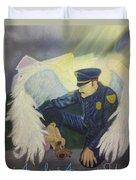 Angels Among Us Duvet Cover