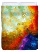 Angels Among Us - Emotive Spiritual Healing Art Duvet Cover