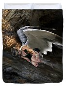Angels- He Will Bring Peace To Your Heart Duvet Cover