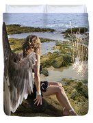 Angels- His Spirit Will Comfort You Duvet Cover