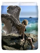 Angels- I'm Watching Over You Duvet Cover