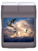 Angels In Flight Duvet Cover