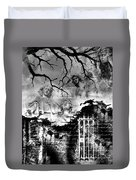 Angels In Gothica Bw Duvet Cover