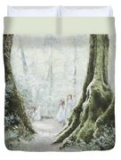 Angels In The Mist Duvet Cover