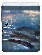 Angels Inna Clouds Duvet Cover