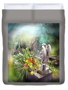 Angels Of Stone Duvet Cover
