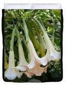 Angel's Trumpet Flower Duvet Cover