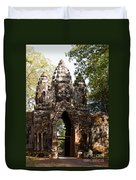 Angkor Thom North Gate 01 Duvet Cover