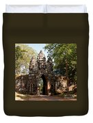 Angkor Thom North Gate 02 Duvet Cover