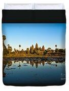 Angkor Wat At Sunset - Cambodia Duvet Cover