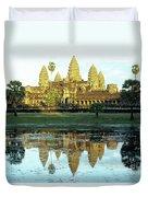Angkor Wat Reflections 01 Duvet Cover