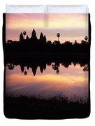 Angkor Wat Sunrise Cambodia Duvet Cover