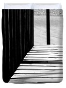 Angles And Shadows - Black And White Duvet Cover