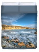 Anglesey Seascape Duvet Cover