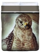 Angry Hawk Duvet Cover