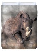 Angry Rhino Duvet Cover