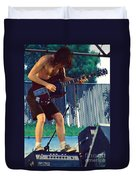 Angus Young Of A C D C At Day On The Green Monsters Of Rock Duvet Cover