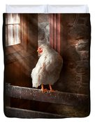 Animal - Chicken - Lost In Thought Duvet Cover