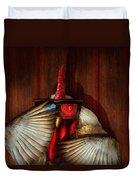 Animal - Chicken - Movie Night  Duvet Cover