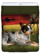 Animal - Dog - Always Faithful Duvet Cover by Mike Savad