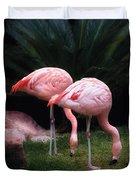 Animal - Flamingo - A Set Of Flamingoes Duvet Cover