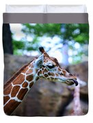 Animal - Giraffe - Sticking Out The Tounge Duvet Cover