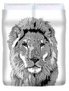 Animal Prints - Proud Lion - By Sharon Cummings Duvet Cover