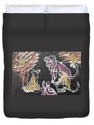 Animals Hold Their Monthly Meeting In The Bush. Duvet Cover
