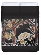 Animals On The Farm. Duvet Cover