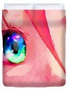Anime Girl Eyes Red Duvet Cover