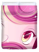 Anime Girl Duvet Cover by Sandra Hoefer