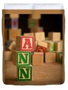 Ann - Alphabet Blocks Duvet Cover