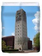 Ann Arbor Michigan Clock Tower Duvet Cover