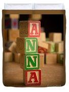 Anna - Alphabet Blocks Duvet Cover