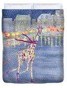 Annabelle On Ice Duvet Cover by Rhonda Leonard