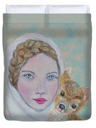 Annalina Litte Angel Of Graceful Light Duvet Cover by The Art With A Heart By Charlotte Phillips