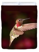 Anna's Hummingbird And The Roses Duvet Cover