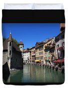 Annecy And Le Thiou Duvet Cover
