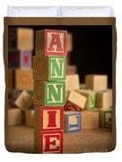 Annie - Alphabet Blocks Duvet Cover
