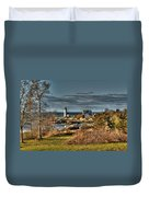 Annisquam Lighthouse Late Autumn Duvet Cover