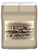 Annisquam Lighthouse Vintage Duvet Cover