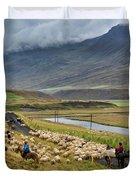 Annual Autumn Sheep Roundup Duvet Cover
